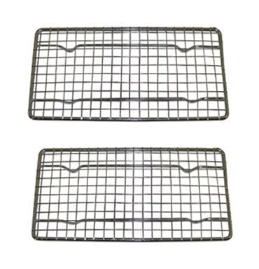 Heavy-Duty Cooling Rack, Cooling Racks, Wire Pan Grade, Commercial grade, Oven-safe, Chrome, 4 x 8 Inches, Set of 12 by Update International