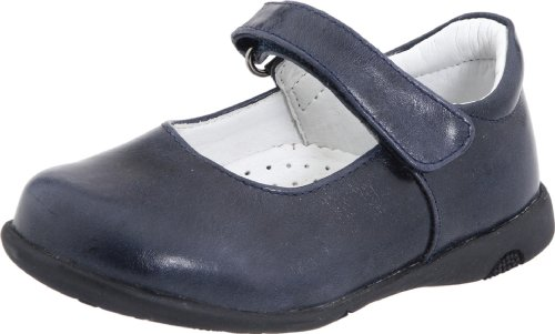 Kid Express Infant/Toddler Janna Mary Jane,Navy Burnished,28 W EU (US Little Kid 11-11.5 W) - Kid Express Leather Mary Janes