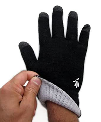 SwypeGloves Small Black Texting Gloves - 'Streets of New York' Touchscreen Gloves (Small, Black)