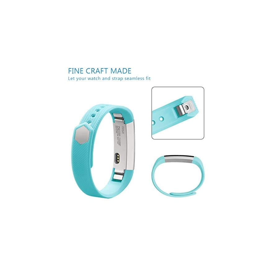 AK for 301 Fitbit Alta Bands, Replacement with Metal Clasp, Small, Teal