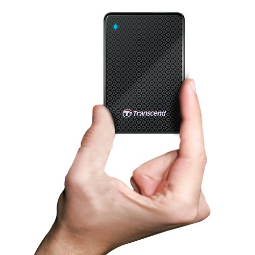 Transcend Information 256GB SuperSpeed 2.5-Inch USB 3.0 External Solid State Drive 260/225 MB/s TS256GESD200K by Transcend (Image #2)