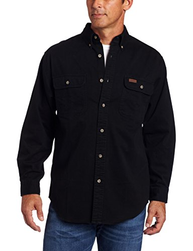 (Carhartt Men's Oakman Sandstone Twill Original-Fit Work Shirt, Black, Regular Small)