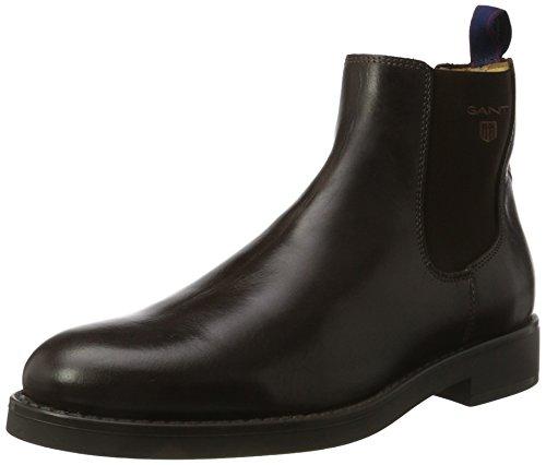 Oscar Chelsea Herren Boots GANT Dark Brown Braun 51pEf1wqx