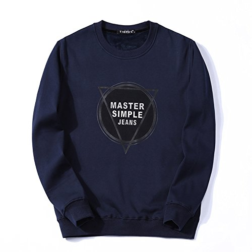 Lisux männer - Winter Pullover Kaschmirpullover mit männer - Casual Mode Pullover - Bewegung,Royal Blau,M