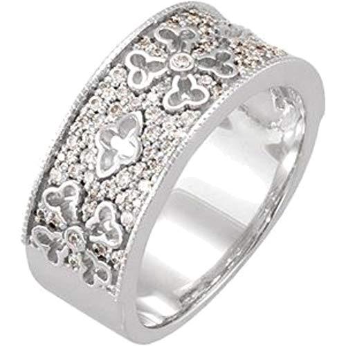 Etruscan Anniversary Band - Bonyak Jewelry 14k White Gold 3/8 CTW Diamond Etruscan Anniversary Band - Size 7