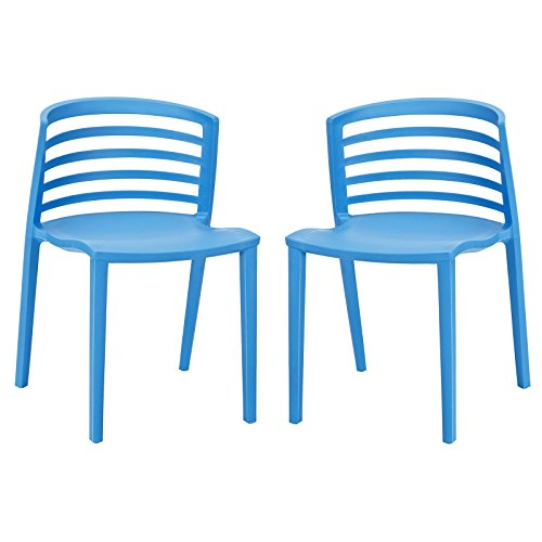 Modway Curvy Dining Chairs, Blue, Set of 2 Review