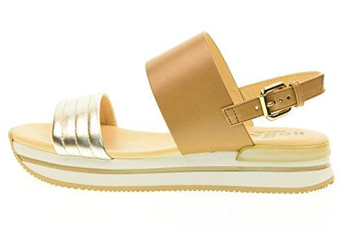 HOGAN zapatos de las sandalias H257 HXW2570X750G6I657M BAND Biscuit