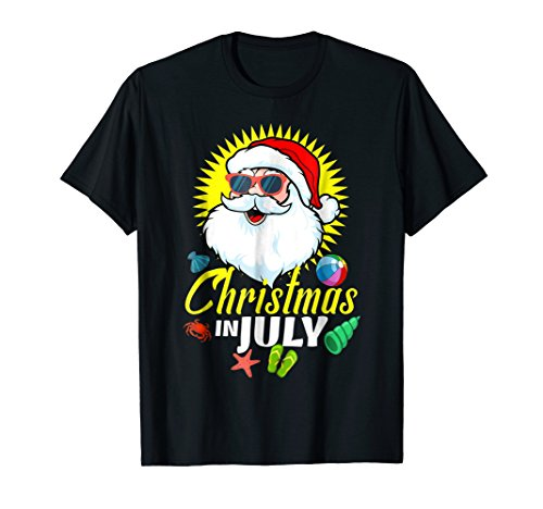 Merry Christmas In July Shirt Decoration Party Supplies -