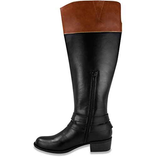 London Fog Tyla High Riding Bota Negro / Cognac