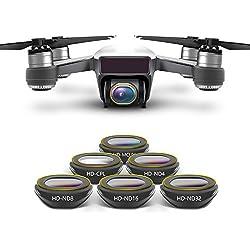 סט פילטרים Anbee Spark Camera Lens Filter 6-Pack, Multi-coated HD UV CPL ND4 ND8 ND16 ND32