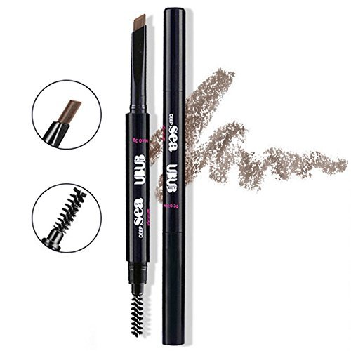 HeyBeauty Eyebrow Pencil with Brow Brush, Waterproof Automatic Makeup Cosmetic Tool, Light Brown-