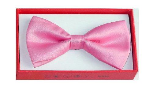 Kids Bow Tie Tuxedo Fashion Pink BowTie - Pre Tied Adjustable Children Bow Tie