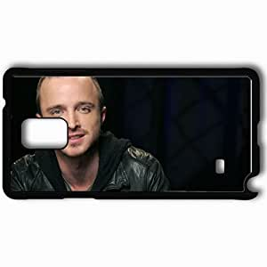 Personalized Samsung Note 4 Cell phone Case/Cover Skin Aaron Paul Eyes Smile Face Actor Celebrity Black