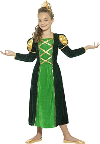 [Medieval Princess Costume Green Large Age 10-12] (Green Medieval Dress)