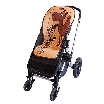 Tris& Ton colchoneta silla de paseo ligera maxi para carrito cochecito bebe transpirable de microfibra + protección de arneses (Trisyton) Tris & Ton
