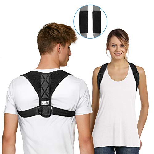 KORRBI Back Brace Posture Corrector Effective and Comfortable Back Support for Better Posture Adjustable Brace Posture Support Personal Posture Corrector for Women Men Back Pain Relief