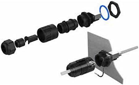 Industrial Outdoor Waterproof IP67 Fast Data Panel Mount Receptacles Socket Jack CNLINKO RJ45 Dual Port Ethernet Connector