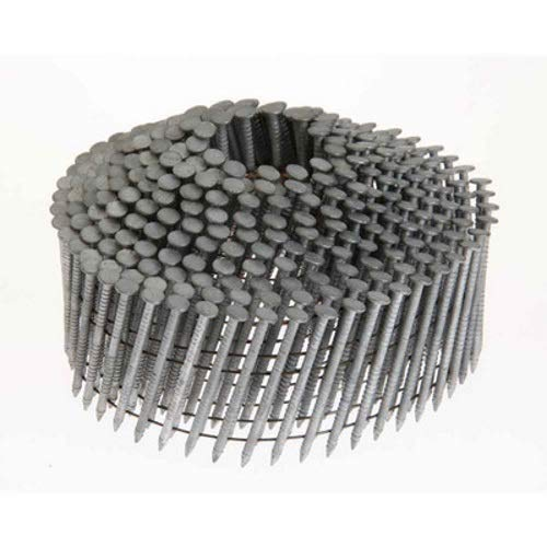 Grip Rite Prime Guard GRC7R90DHG 15-deg HD Galvanized Wire Coil Nails, Ring 2-3/16-inch by .092 (3,000 per pack), Steel, Flat, Ring 322109