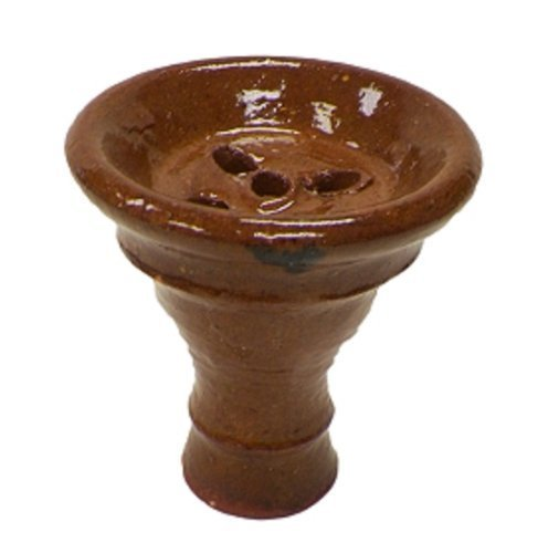 Egyptian Glazed Clay Hookah Bowl by Unknown