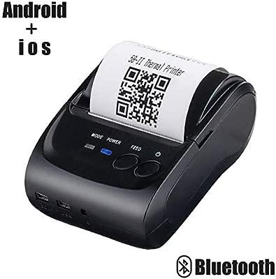 Impresora térmica inalámbrica con Bluetooth para recibos, 58 mm ...