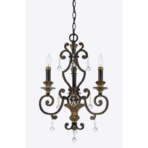 Marquette Chain (Quoizel MQ5003HL  Marquette 3-Light Mini Chandelier, Heirloom)