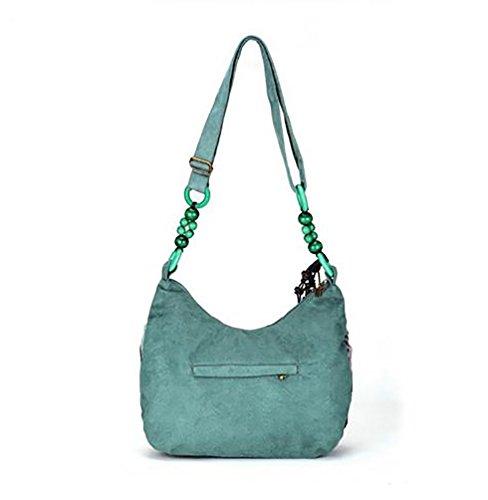 YouPue Donna Retro Borsa a Tracolla Scuola Borsetta Messenger Bag Army Green