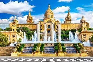 Museo nacional De Barcelona, De plaza España Placa, De España (74629939)., lona, 30 x 20 cm: Amazon.es: Hogar