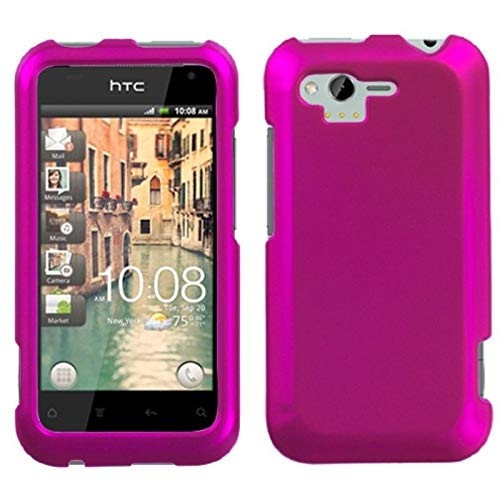 Insten Rubberized Hard Snap-in Case Cover Compatible with HTC Rhyme/Bliss, Hot Pink