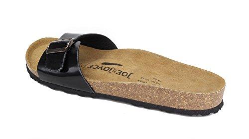 JOE N JOYCE Women Porto Soft-Footbed Sandals Metallic SynSoft Sandals Slippers SynSoft Sandals Slippers Narrow Black 5FIyD9nOb
