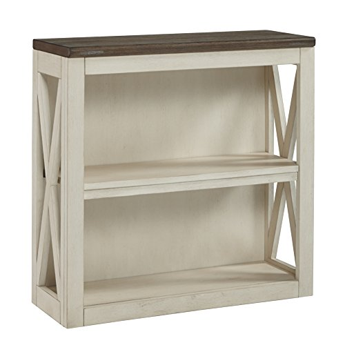 Ashley Furniture Signature Design - Bolanburg Medium Bookcase - Casual - 2 Shelves - Weathered Oak/Antique White Finish ()
