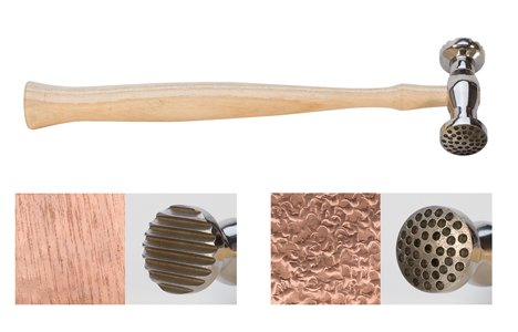 Price comparison product image Texturing Hammer,  Round Dimples & Narrow Pinstripes