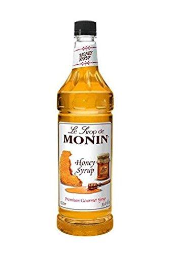 Monin Honey Syrup - Premium Gourmet Syrup | 33.8 oz