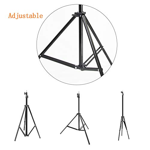 MOUNTDOG Upgraded 6.5 Ft/ 200CM / 78inch Photography Tripod Light Stand Aluminum Alloy Photographic Stand for Studio Reflector Softbox Umbrellas-6.5ftX2 by MOUNTDOG (Image #5)