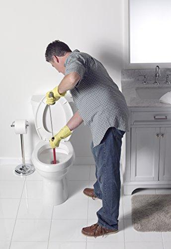 Liquid Plumr Toilet Snake - in use