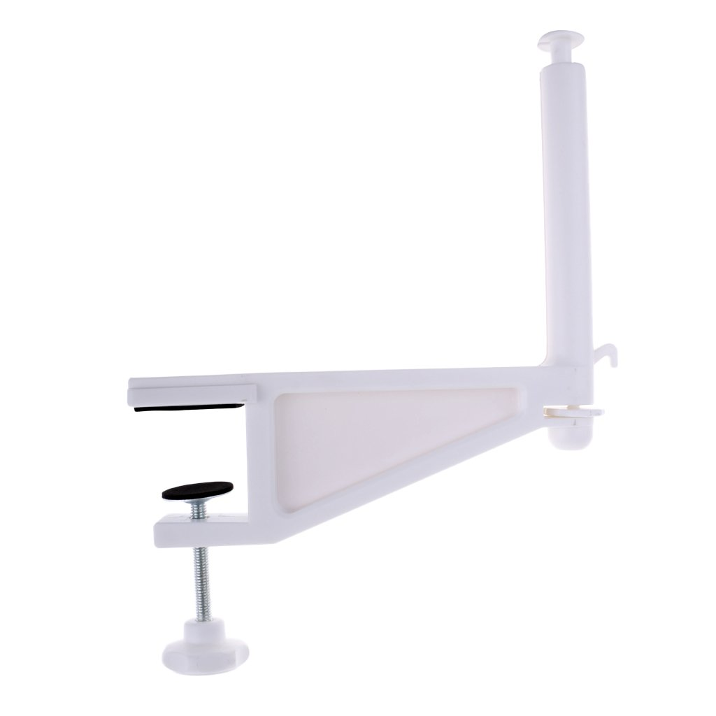 Homyl Portable Table Tennis Net Rack, 1 Piece, White