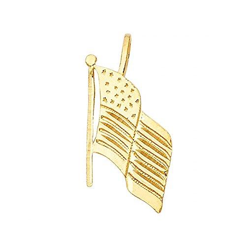Gold American Flag Charm - 1