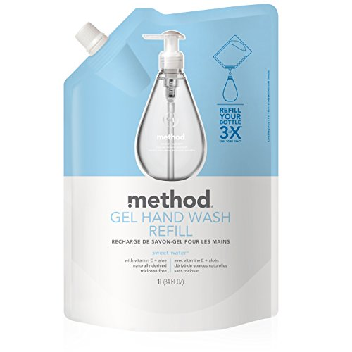(Method Gel Hand Soap Refill, Sweet Water, 34 Ounce)