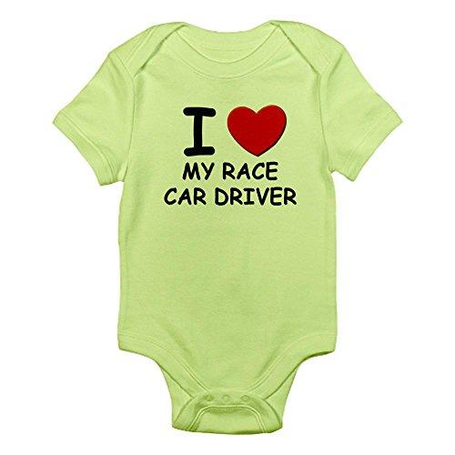 CafePress I Love Race car Drivers Infant Bodysuit - Cute Infant Bodysuit Baby Romper - Love Sprint Car