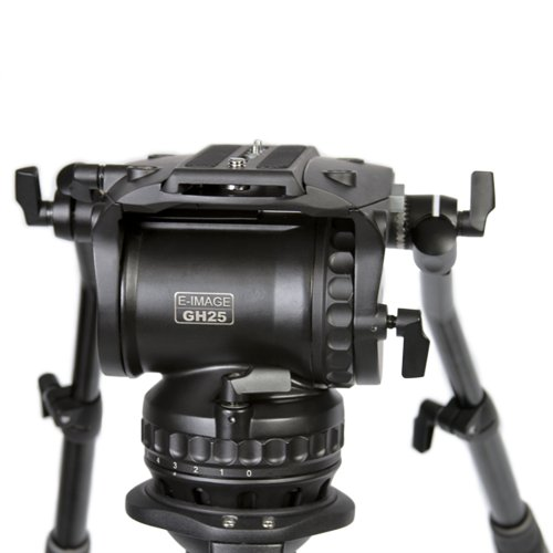 Title: E-Image by Ikan GH25 100mm Pro Fluid Video Head 55 lbs max