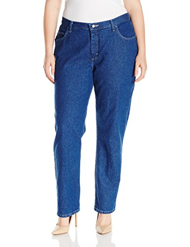 Riders by Lee Indigo Women's Plus Size Camden Relaxed Fit 5 Pocket Jean, Indigo Denim, 18M