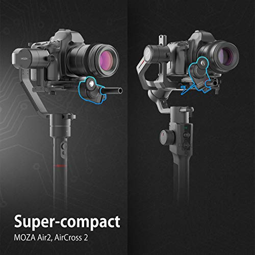 MOZA Slypod 2-in-1 Motorised Slider Monopod Accurate Position Speed Control Easy Assemble Hold Max Payload Vertical 19.8Lb Horizontal 8.8Lb for DSLR Camera Stabilzer Aircross 2 AIR 2 Gimbal Ronins et