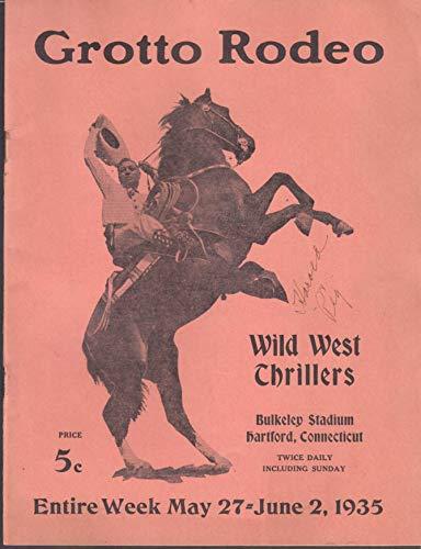 Syria Grotto Rodeo Bulkeley Stadium Hartford Ct program 1935 Wild West Thrillers