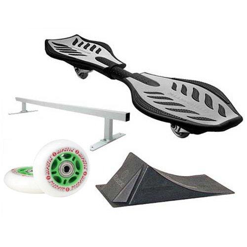 Razor Ripstik Silver Caster Board Skate Board w/ Deluxe Accessory Kit by Razor