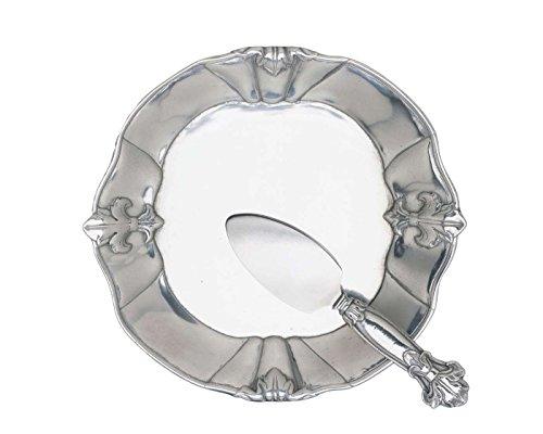 Arthur Court Fleur-De-Lis 8-Inch Plate with Server (Lis Mirror De Fleur)