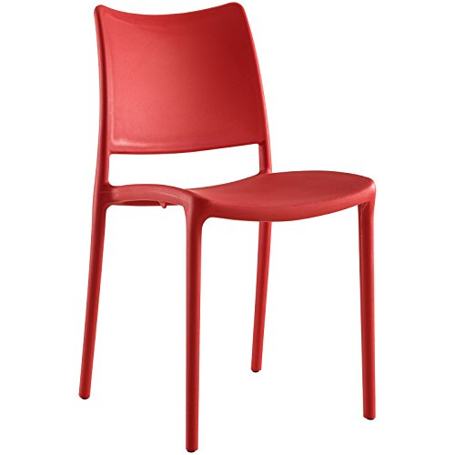 Modway EEI-1703-RED Hipster Dining Side Chair, Red by Modway
