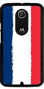 Funda para Motorola Moto X (Génération 2) - Francia Bandera De 8 Bits by Cadellin