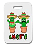 TooLoud Fiesta Cactus Couple Amor Thick Plastic Luggage Tag