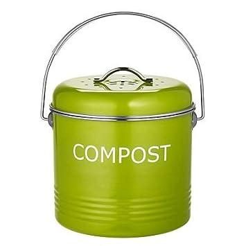 Komposteimer für die Küchenanrichte in Apfelgrün, 5 Liter: Amazon ...