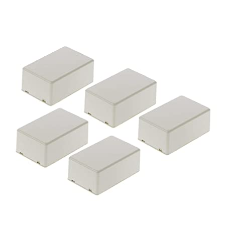 LANDUM 5Pcs New Plastic Electronic Project Box Enclosure Instrument Case DIY 70x45x30mm