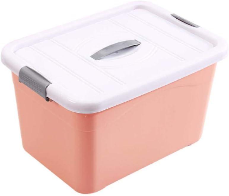Caja de Almacenamiento Transparente para el hogar Caja de Almacenamiento de Aperitivos de plástico de múltiples Funciones de Color sólido-Naranja_Tamaño Grande 38 * 26 * 26 cm Necesidades Familiares